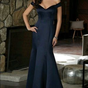 Morilee (Navy Blue) Style 21583 Bridesmaid dress.